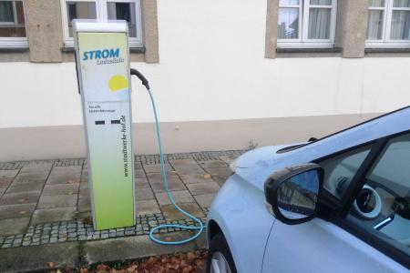 Stationsfoto Ladestation HEW HofEnergie+Wasser